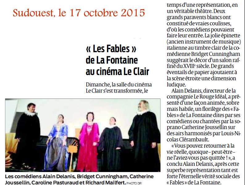 article Sudouest du 17 octobre 2015